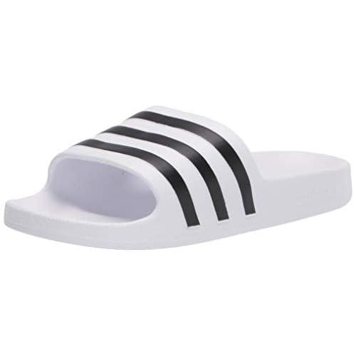 adidas Adilette Aqua K, Ciabatte Unisex-Adulto, Bianco Core Nero Ftwr Bianco, 37 EU