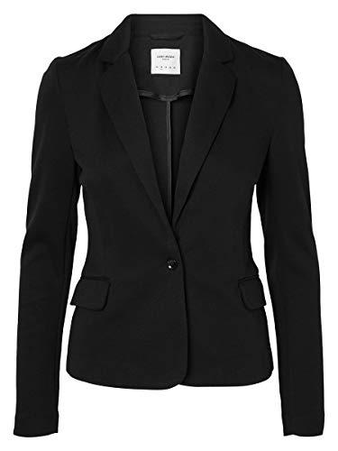 VERO MODA VMJULIA LS BLAZER DNM NOOS, Chaqueta de traje Mujer, Negro (Black), 34