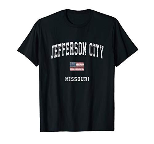 Jefferson City Missouri MO Vintage American Flag Sports T-Shirt