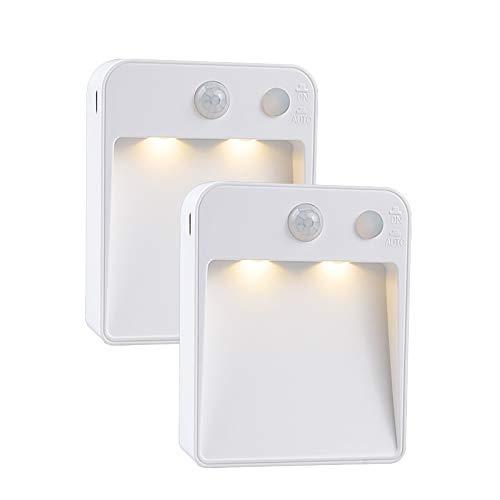 LED Luz Nocturna con Sensor de Movimiento (2 Piezas), Luz Ar