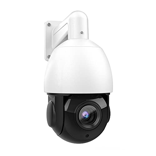 (Compatible for Hikvision) 5MP Outdoor Security POE PTZ Camera,Pan/Tilt/4.7mm~84.6mm 18X Optical Zoom, 30X Digital Zoom,Smart IR Night Vision, Support Hikvison Protocol, H.265,IP66 Waterproof