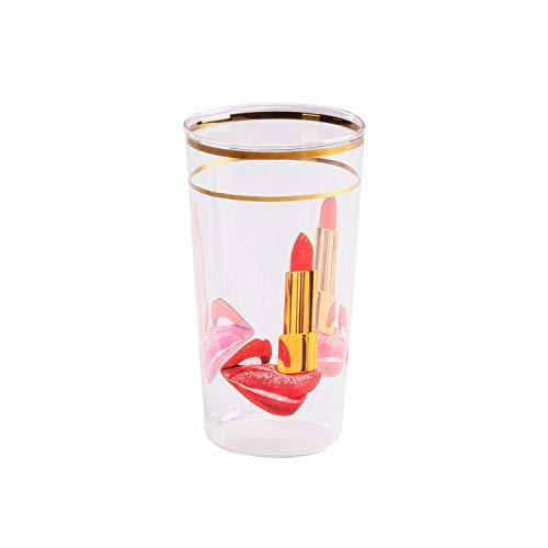 SELETTI TOILETPAPER Bicchieri in Vetro borosilicato, Lingua