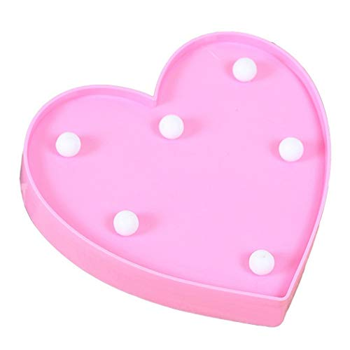 LED decorative Light Up Love Heart for birthday wedding party bar camera da letto Wall Hanging Decor rosa
