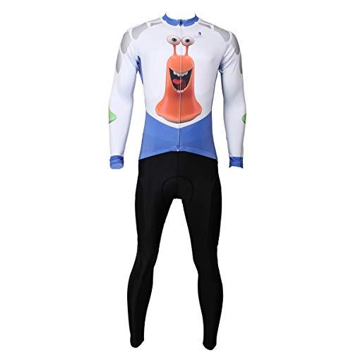 Generic Brands Cyclisme Costumes IBHT Printemps et l'automne à Manches Longues Jersey équitation vêtements de Plein air mâle Chemise Nouveau (Color : Long Suit, Size : XXXL)