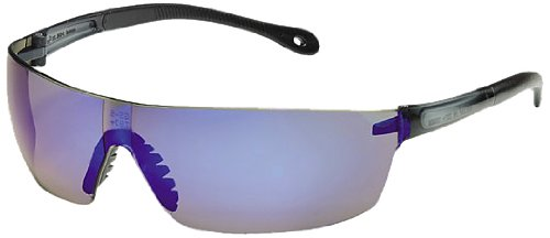 Gateway Safety 449M StarLite Squared Ultra-Light Safety Glasses, Blue Mirror Lens, Gray Temple (Pack of 10)