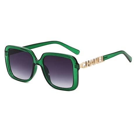 YSJJBTS Vasos Decorativos Trendy 2021 rectángulo Gafas de Sol Mujeres Callejero Tiro Gafas Negro Grueso Marco Moda Femenino Fresco Gafas de Sol (Frame Color : Other, Lenses Color : C-3)