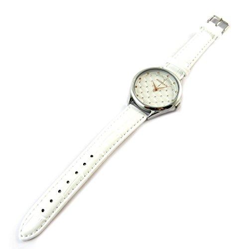 Morgan [N9866] - Designer-Uhr 'Morgan' Silber weiß (illuminationen).