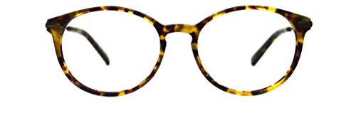 GLOBAL VISION Montatura per occhiali da vista da donna combinato (acetato/metallo) - Made in Italy (C3 - Demi)