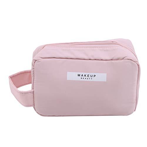 LIGHTBLUE Fourre-tout carré, trousse de toilette grande capacité sac de rangement grand sac cosmétique de voyage sac de rangement portable, trompette rose
