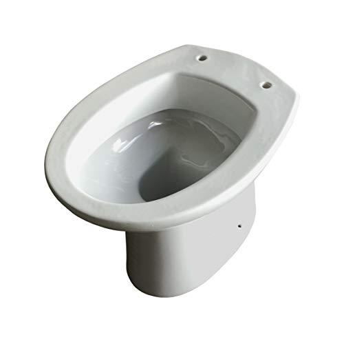 Sanitari water wc vaso a terra scarico a parete,ceramica bianca, mod.Clizia