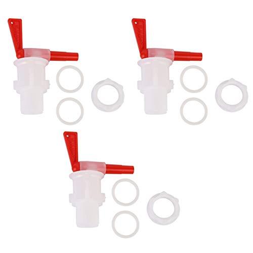 Grifo de cubo de embotellado de plástico de 3 piezas, grifo de grifo de cubo de cerveza reutilizable para cerveza, vino o soda Homebrewing