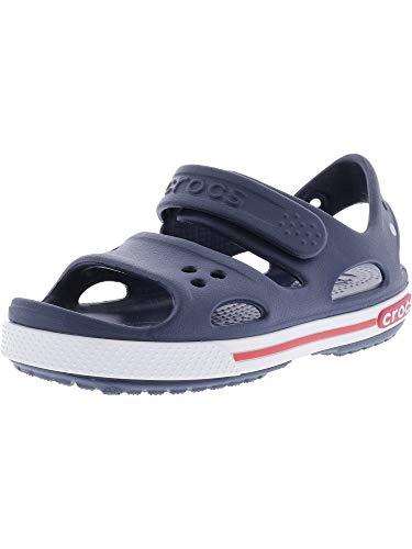 Crocs Kids' Crocband Ii Toddler Sandal, Navy/White, 13 M US Little Kid