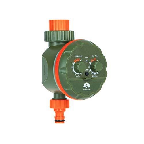 Ultranatura Doppel-Bewässerungssystem mit Zeitschaltuhr, ideal zur Blumenbewässerung, Rasenbewässerung etc, Urlaubsbewässerung, Batteriebetrieben, mit einem Ausgang, kabellos, Farbe: grün