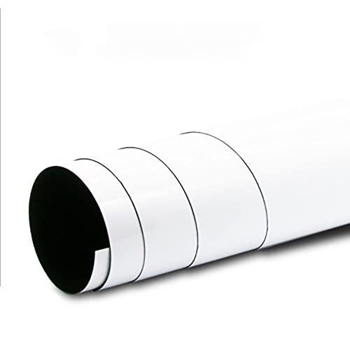 Pizarra blanca magnética suave autoadhesiva, 11.81 x 17.72 pulgadas, plancha suave, borrado...