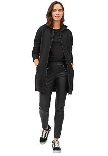 Ellos Women's Plus Size Long Zip Front Hoodie - Black, 4X