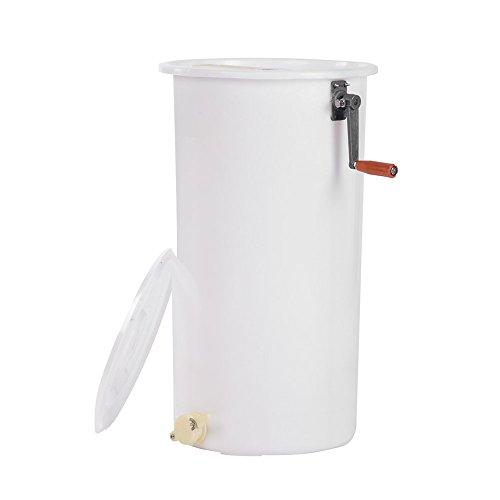 GOTOTOP Extractor Manual Plástico de la Miel de la Abeja de 2 Marcos, Extractor Manual de Miel de Abeja de Plástic,Panal Equipo de Apicultura