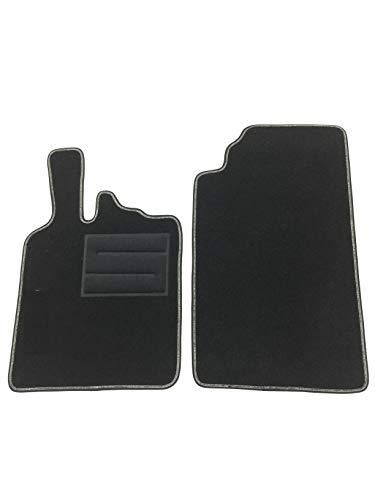ASC - Juego de alfombrillas para Smart Fortwo W451 (año de fabricación 2007 -2014) - Alfombrillas para coche con logo y talonera