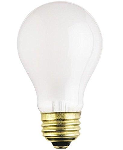 Satco S3928 (12-Bulbs) 75 Watt A19 Rough Service Incandescent Heavy Duty Light Bulb, Frosted, Medium 120V