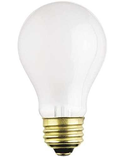 (12-Bulbs) 75 Watt A19 Rough Service Incandescent Heavy Duty Light Bulb, Frosted, Medium Base 120 Volt