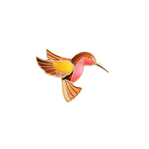 Cartoon Vögel Eeamel Pins Rosa Flamingo Specht Brosche Frauen Männer Jeans Jacken Hut Rucksack Anstecknadel Fliege Tiere Abzeichen Geschenke-Brauner Vogel