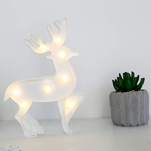 SZMYLED Luz nocturna para niños – Artículos de bebé, artículos para el hogar, luces LED de letras para el hogar, fiesta, bar, boda, festival, decoración de cumpleaños, regalos de Navidad, ciervo