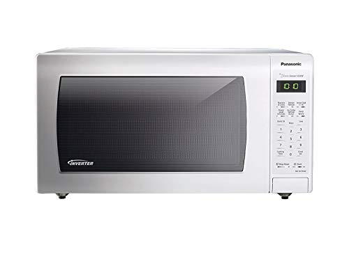 PANASONIC Countertop Microwave Oven with Inverter Technology, Genius Sensor, Turbo Defrost and 1250W of high cooking power – NN-SN736W – 1.6 cu. Ft. (White) (Renewed)