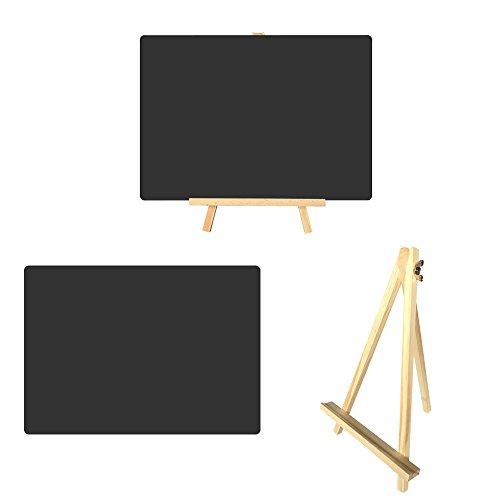 2 Stück Große DIN A4 Staffelei Tafeln ST100 ideal als Menütafel, Angebotstafel oder Tischdekoration