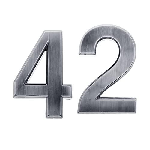 MagiDeal 2 Uds Números de Buzón Autoadhesivo Número de Puerta Señal Dirección Puerta Apartamento