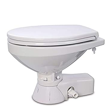 Jabsco 37245-3094 Quiet Flush Raw Water Toilet Compact Bowl 24v