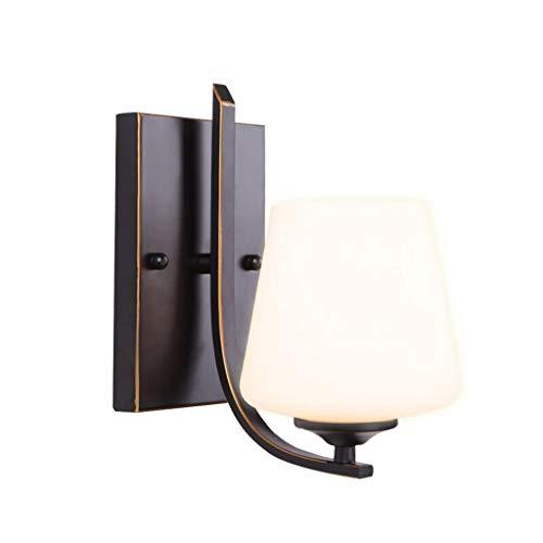 Lámpara de Pared Sala Estudio Dormitorio Comedor Pasillo retro Glass Garden de noche la lámpara de pared de la pared exterior de la linterna lámpara de pared como la luz del pórtico, resistente a la i