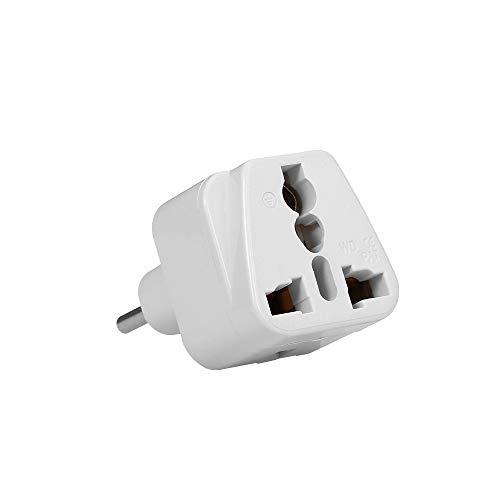 Sangmei Alta Qualidade Swiss Embedded Conversion Plug 3-hole Adapter Plug Swiss Plug to Universal Socket Travel Plug Adapter White
