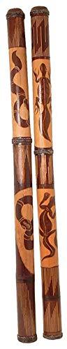 Woru Didgeridoo aus Bambus, beschnitzt, Länge ca. 115 cm