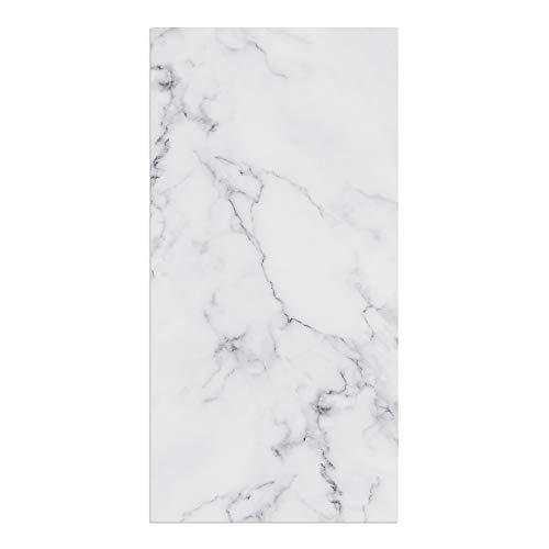 DON LETRA Alfombra Vinílica para Salón, Dormitorio y Cocina - Diseño de Mármol Blanco - 80 x 40 x 0.2 cm, ALV-001