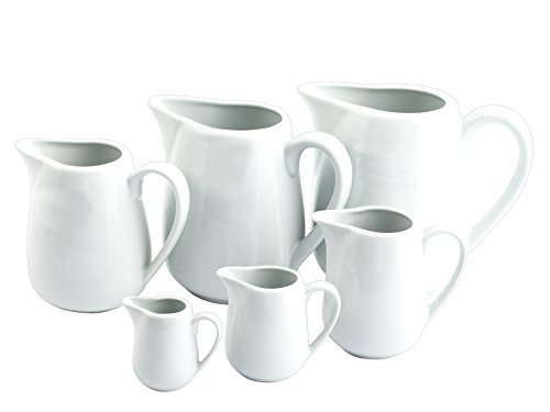HOTELWARE Ariston Lattiera per 1 Tazza, 140 ml, Porcellana, Bianco, 10x4x8 cm