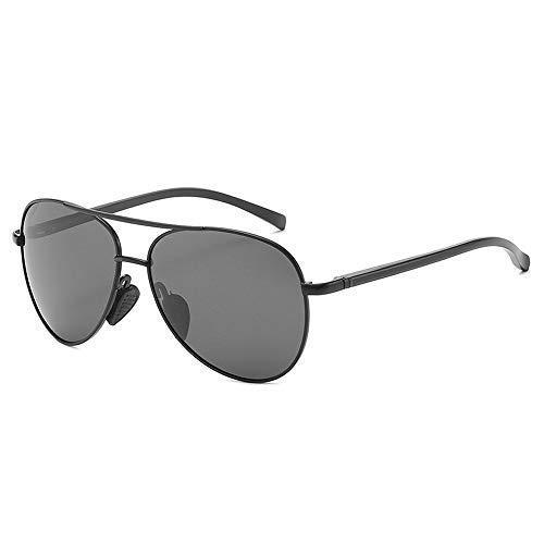 WSDSX Gafas de sol Gafas de sol Gafas polarizadas Hombres Gafas de sol casuales Gafas de sol con montura metálica que cambian de color Gafas de moda (Color: 02Blue, Tamaño: Gratis)