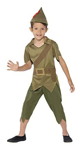 Smiffys 44063M Kinder Robin Hood Kostüm, Hut, Top und Hose, Größe: M, 44063