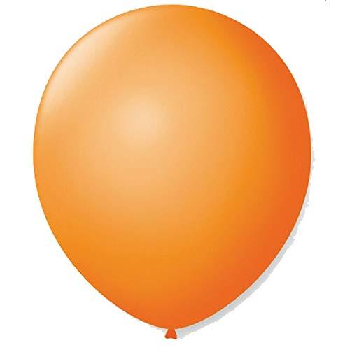 São Roque Balão para Decoração Redondo N.09 Mandarim, Naranja, 50 balões