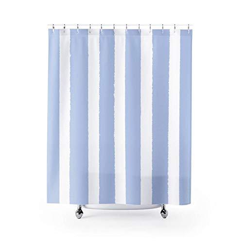 "Georgia Barnard 72"" x 79"" Shower Curtain, Periwinkle Shower Curtain, Pale Blue Striped Shower Curtain Bathroom Decor"