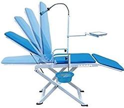 Unidad ASICO Silla dental portátil Cold Light + Salivadera bandeja de Odontología de equipo móvil