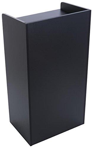 Displays2go Hostess Station, Hidden Wheels, Adjustable Shelf, Black (LCKDPHSBK)