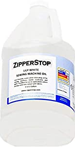 Zipperstop Sewing Machine Oil ~ Lily White ~ 1 U.S. Gallon