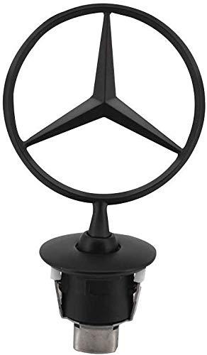JDclubs 3D Emblem for Mercedes Benz Car Logo Front Hood Ornament Car Cover Chrome Eagle Badge (black)