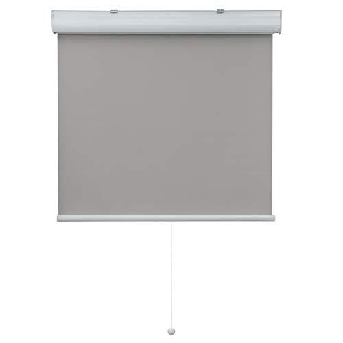 Atlaz Springrollo mit Aluminium-Kassette Verdunklungsrollo Schnurlos 120x210cm(BxH) Grau Thermorollo zum Bohren Schnapprollo Rollos für Fenster