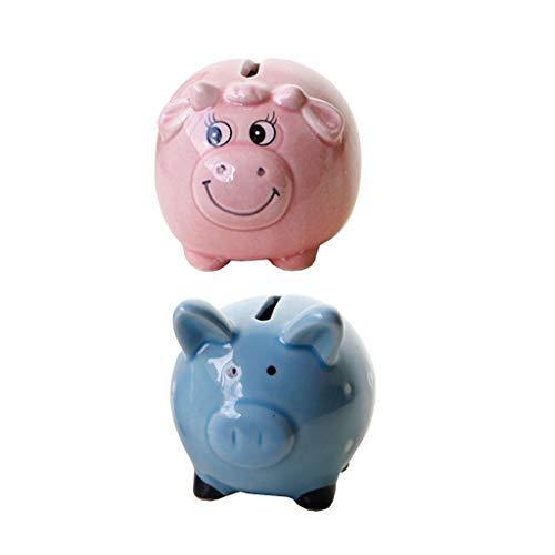 Amuzocity Oveja Y Cerdo PIGGY BANK Caja de Dinero Tarro para Ahorrar Monedas de Fondo Regalo para Niños
