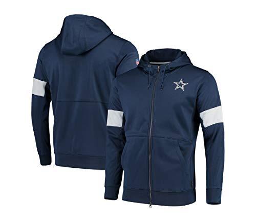 SHR-GCHAO NFL Full Zip con Capucha, Dallas Cowboys/Fútbol Sudadera Pullover, La Manga Larga Ropa del Deporte,XL(175~180cm)