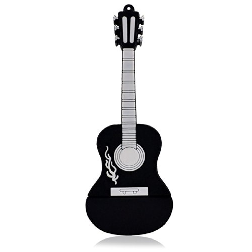 818-Shop No11100060032 Hi-Speed 2.0 USB-Sticks 32GB Instrument Gitarre Country 3D schwarz