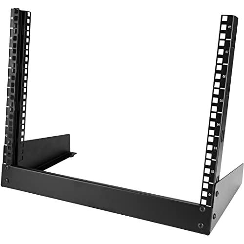 Rack de moldura aberta StarTech.com 12U, 8u, Preto, Lightweight