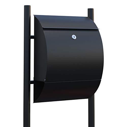 Staande brievenbus, design brievenbus Sunshine zwart - Bravios