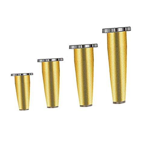 ZXL Meubelpoten roestvrij staal goud sofa kabinet voeten instelbaar badkamerkast steunpoten TV kast voeten robuuste reservevoeten 1 set van 4 (8~20 cm)