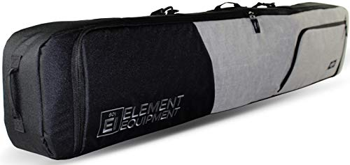 Element Equipment Deluxe Padded Snowboard Bag - Premium High End Travel Bag 165 Heather Grey/Black